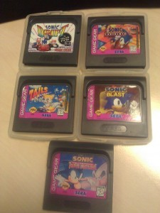 Sonic Blast, Sonic Triple Trouble, Sonic Drift, Sonic Labyrinth, Tails Adventure
