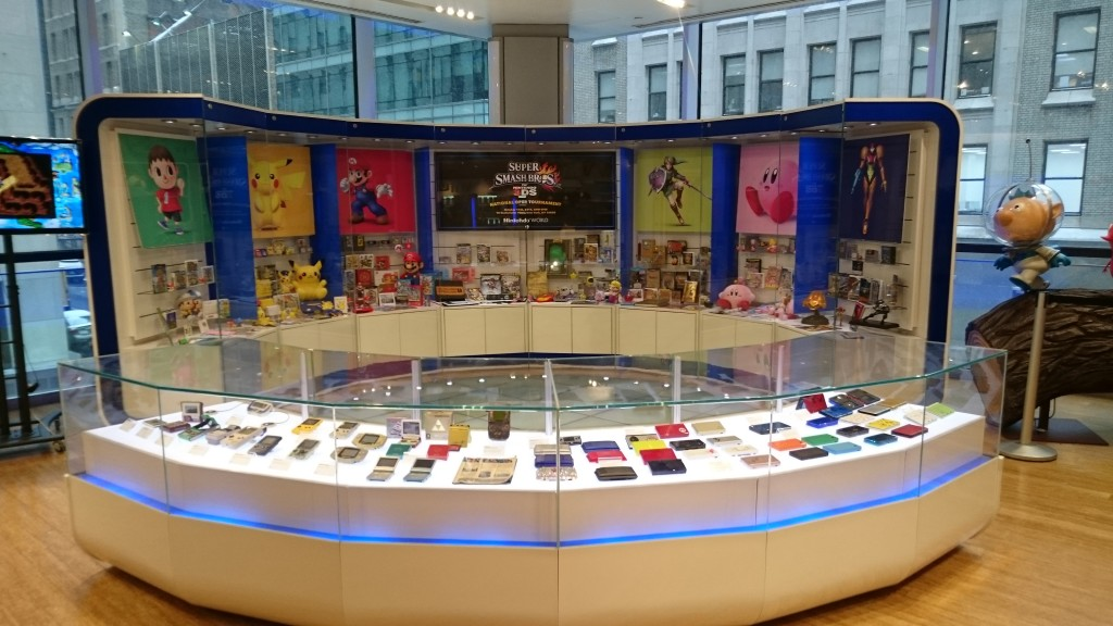 Smash Bros display as well as a handheld history display
